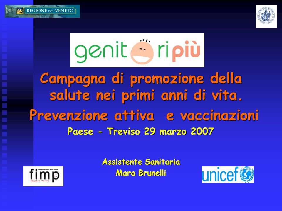 Campagna di promozione della salute nei primi anni di vita.