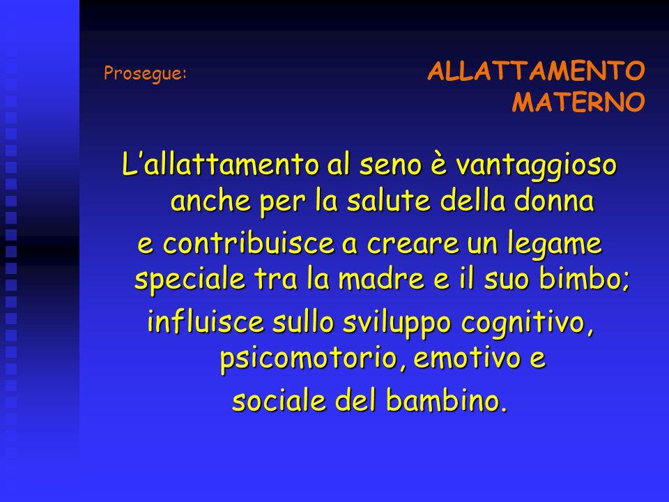 Prosegue: ALLATTAMENTO MATERNO