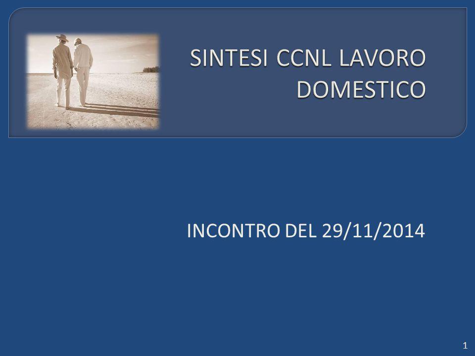 SINTESI CCNL LAVORO DOMESTICO