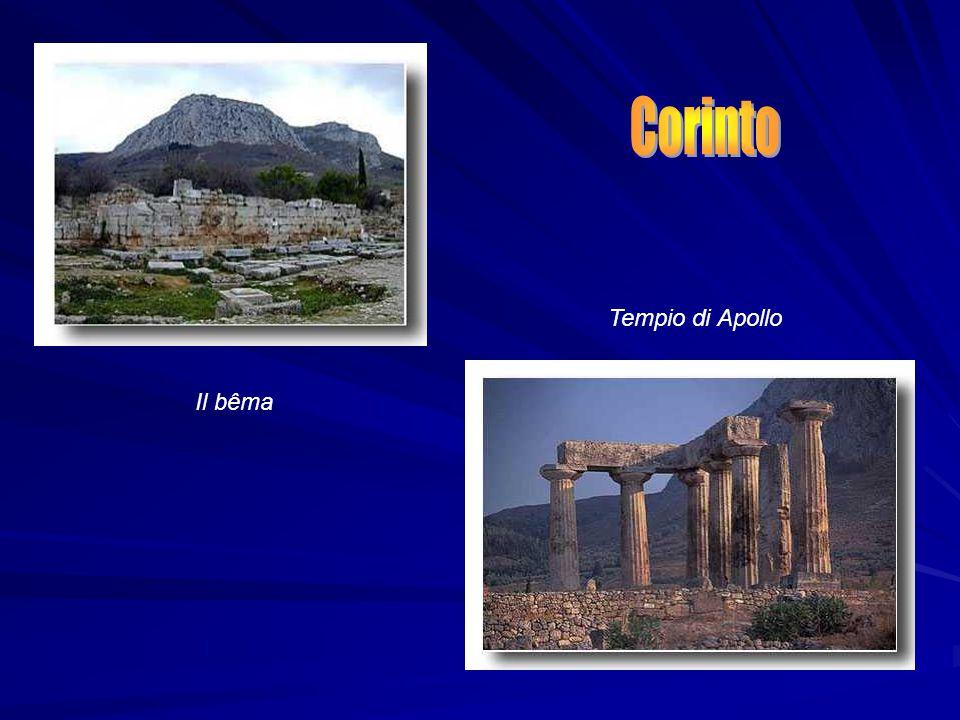 Corinto Tempio di Apollo Il bêma