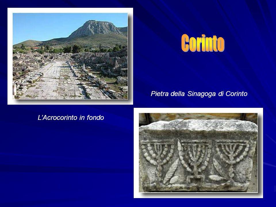Corinto Pietra della Sinagoga di Corinto L'Acrocorinto in fondo