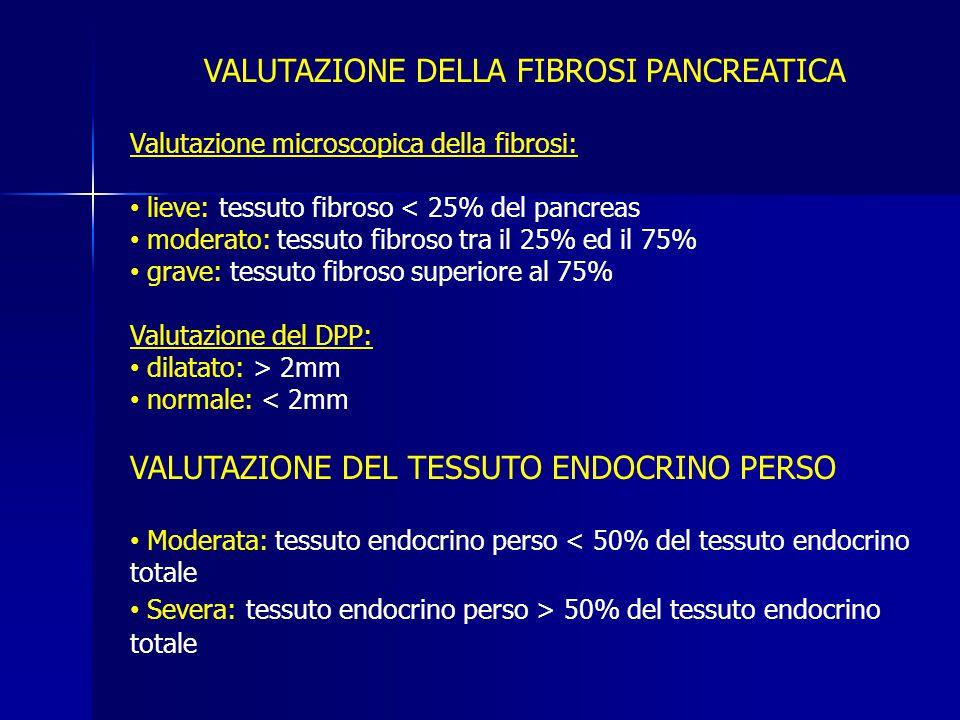 VALUTAZIONE DELLA FIBROSI PANCREATICA