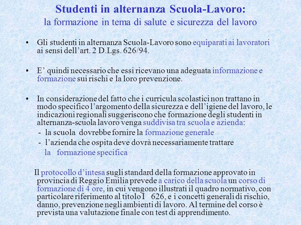 Studenti in alternanza Scuola-Lavoro: la formazione in tema di salute e sicurezza del lavoro