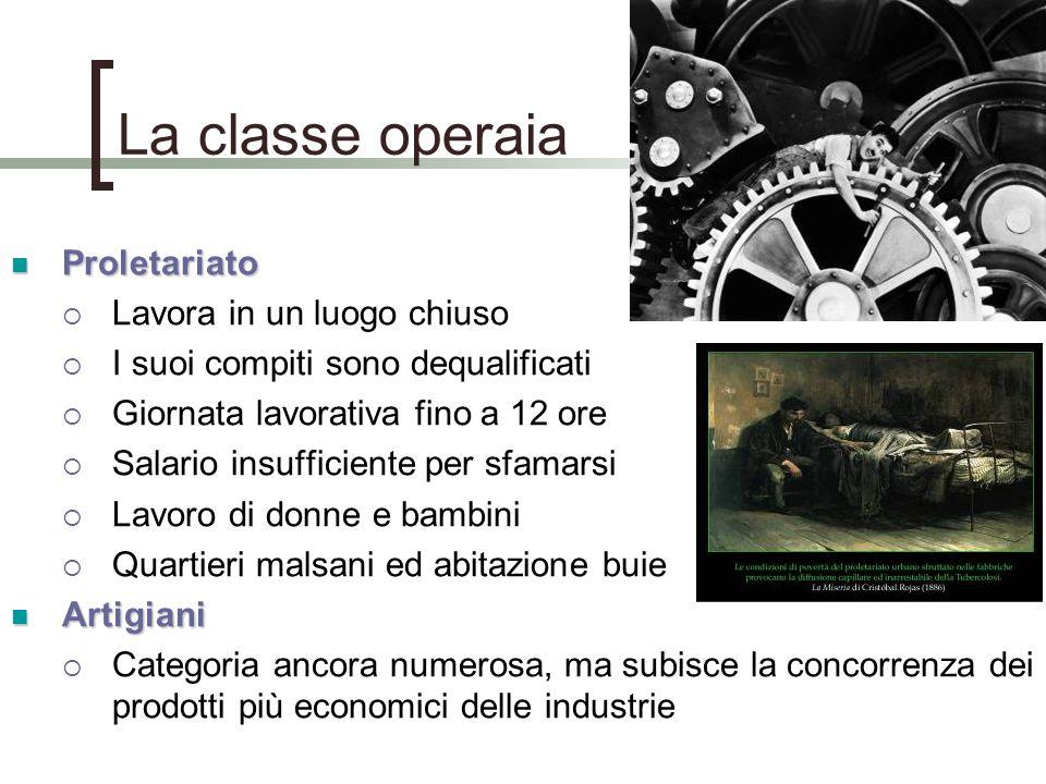 La classe operaia Proletariato Lavora in un luogo chiuso