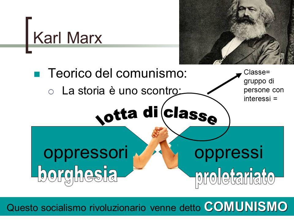 Questo socialismo rivoluzionario venne detto COMUNISMO