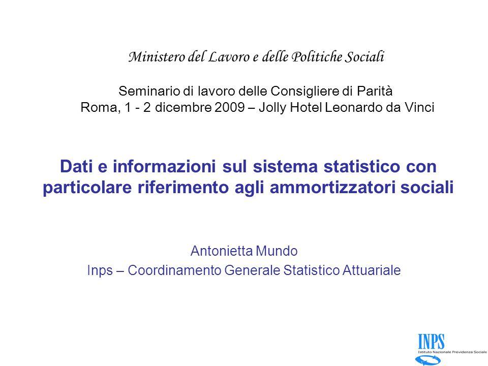 Antonietta Mundo Inps – Coordinamento Generale Statistico Attuariale