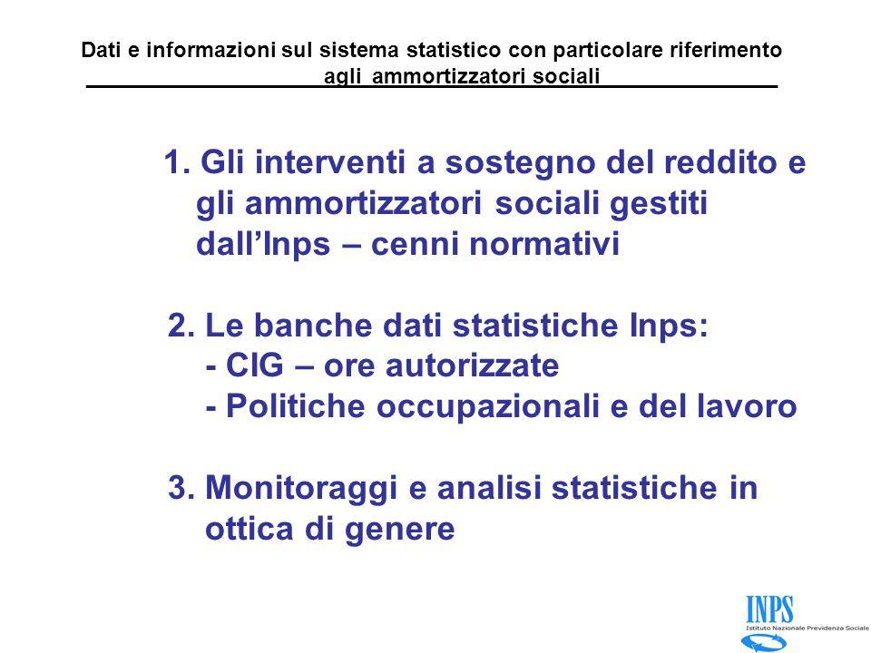 Dati e informazioni sul sistema statistico con particolare riferimento