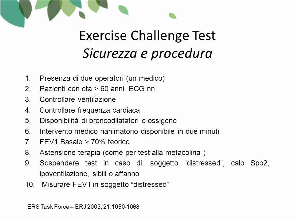 Exercise Challenge Test