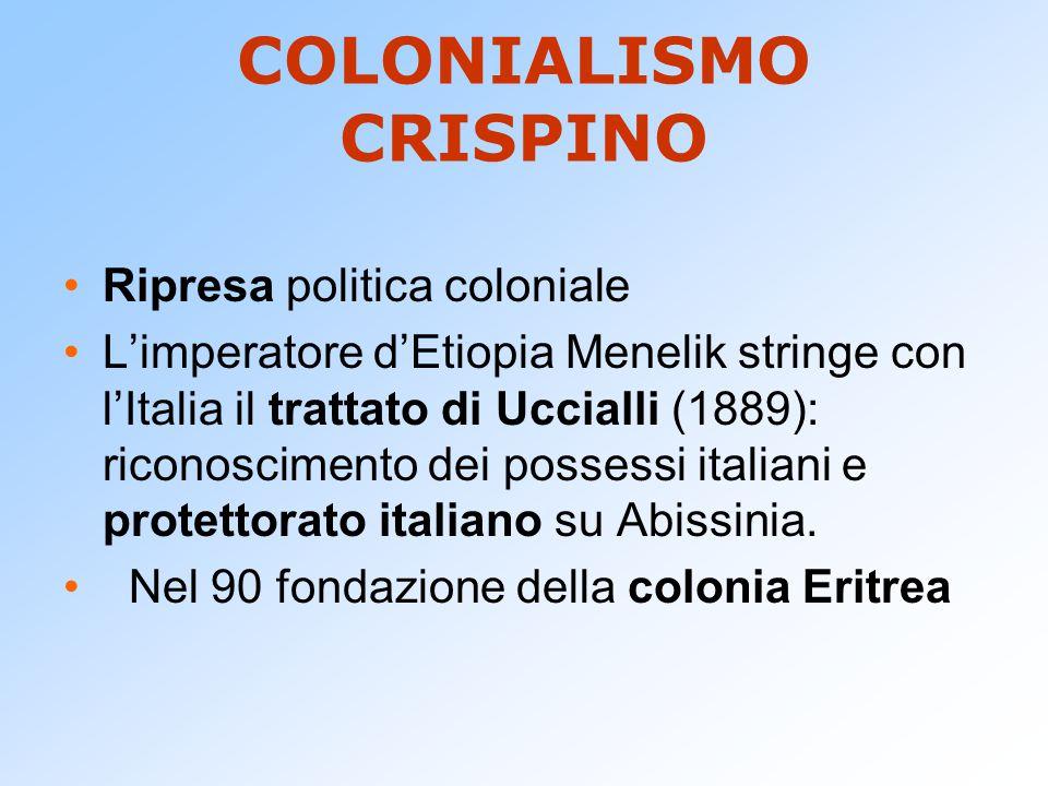 COLONIALISMO CRISPINO