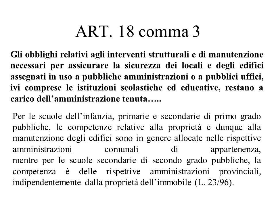 ART. 18 comma 3