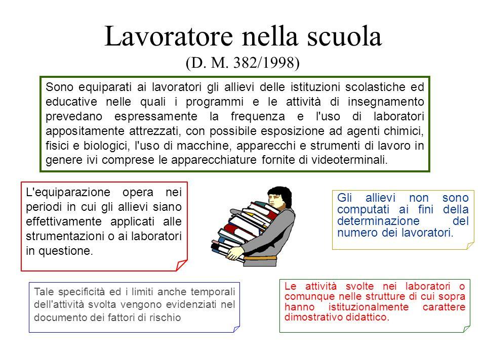 Lavoratore nella scuola (D. M. 382/1998)
