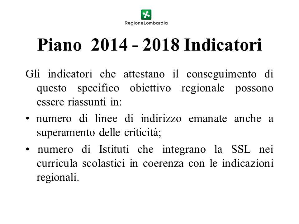 Piano 2014 - 2018 Indicatori