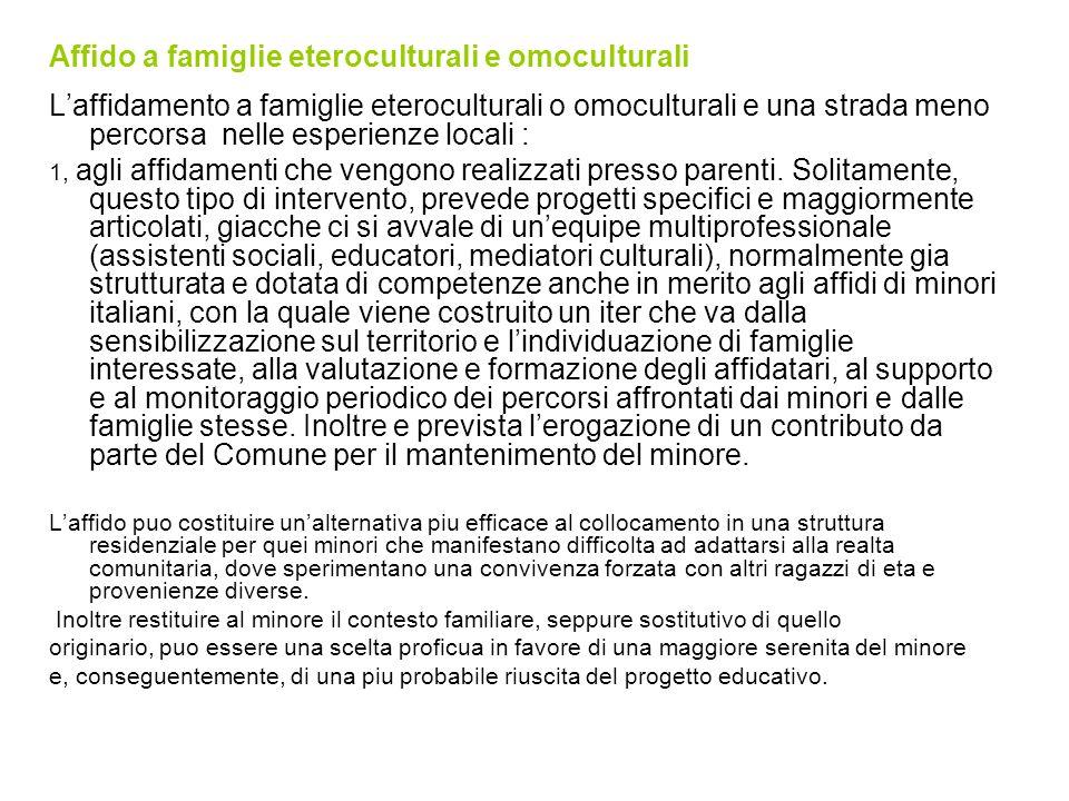 Affido a famiglie eteroculturali e omoculturali
