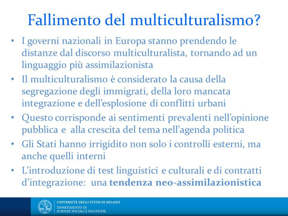 Fallimento del multiculturalismo