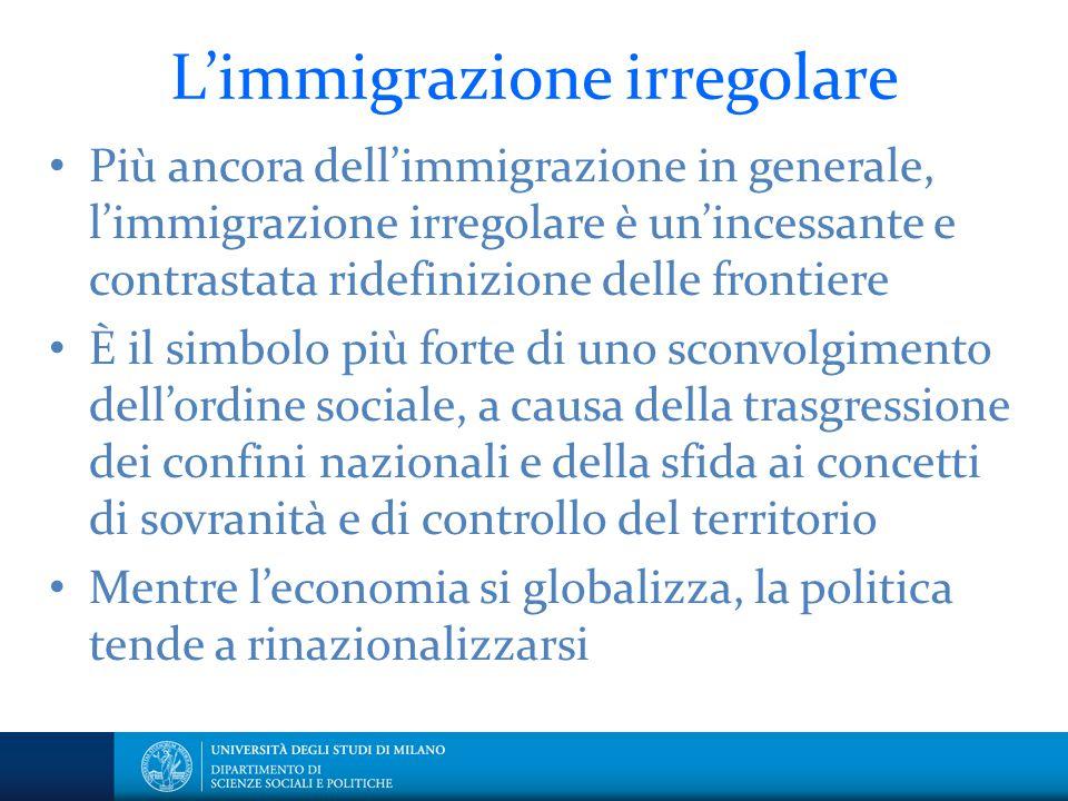 L'immigrazione irregolare