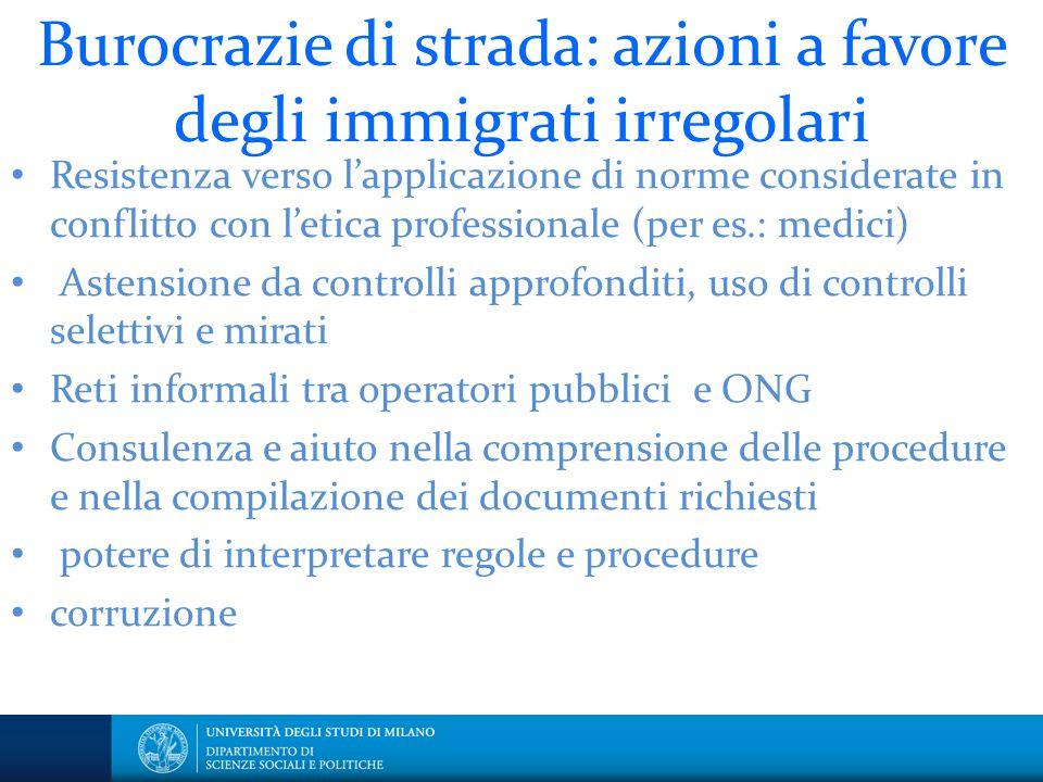 Burocrazie di strada: azioni a favore degli immigrati irregolari