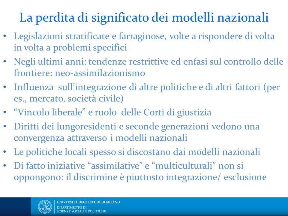 La perdita di significato dei modelli nazionali