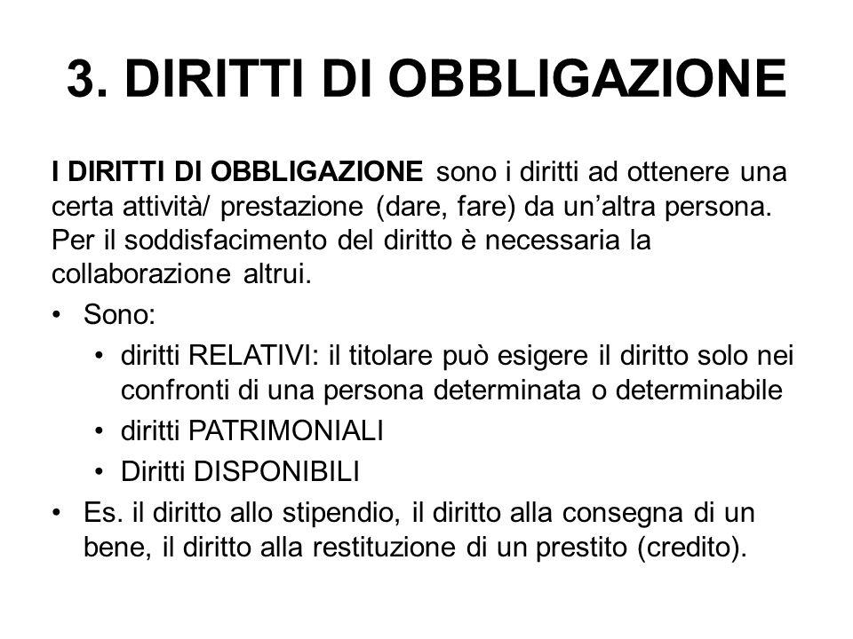 3. DIRITTI DI OBBLIGAZIONE
