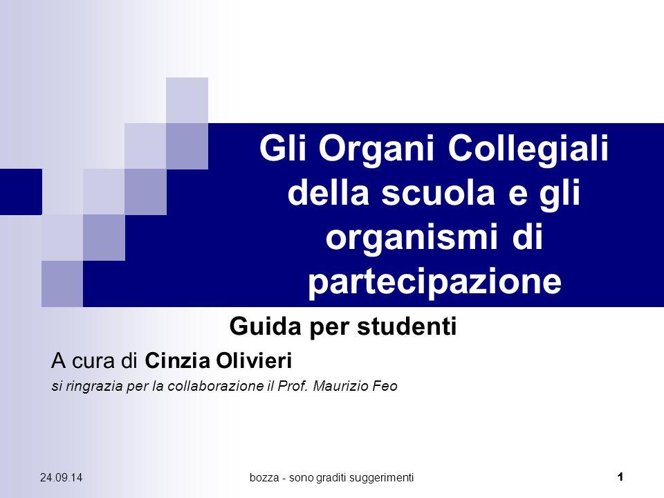 Gli Organi Collegiali della scuola e gli organismi di partecipazione