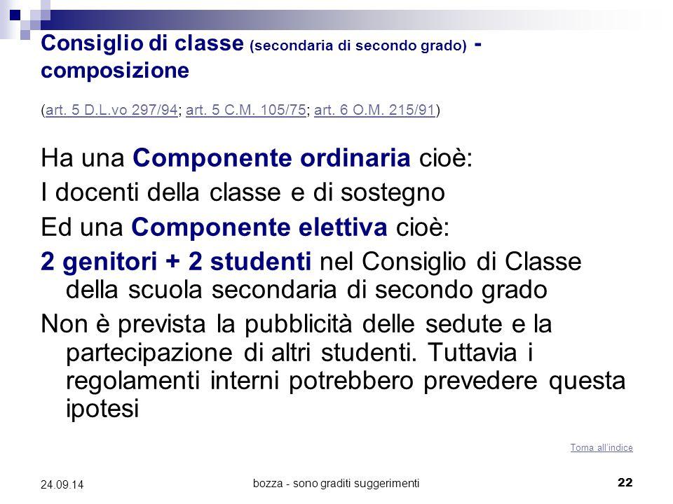 Consiglio di classe (secondaria di secondo grado) - composizione