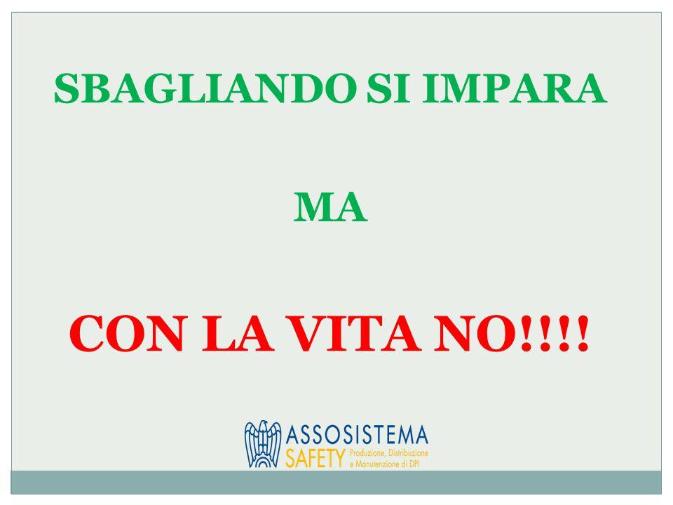 SBAGLIANDO SI IMPARA MA CON LA VITA NO!!!!