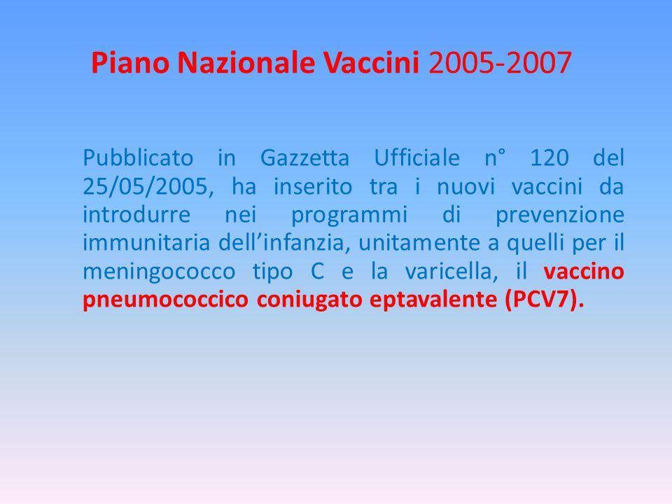 Piano Nazionale Vaccini 2005-2007