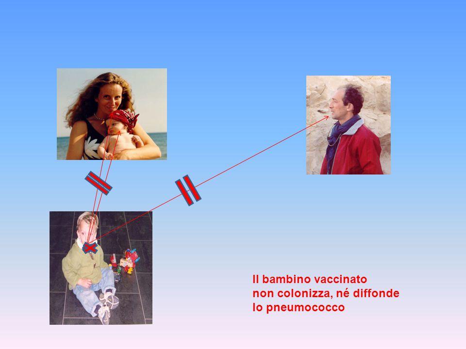 Il bambino vaccinato non colonizza, né diffonde lo pneumococco