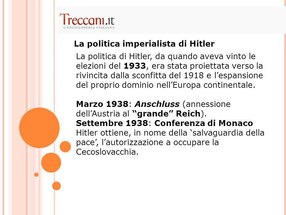 La politica imperialista di Hitler