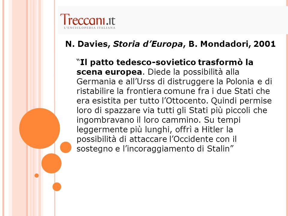 N. Davies, Storia d'Europa, B. Mondadori, 2001