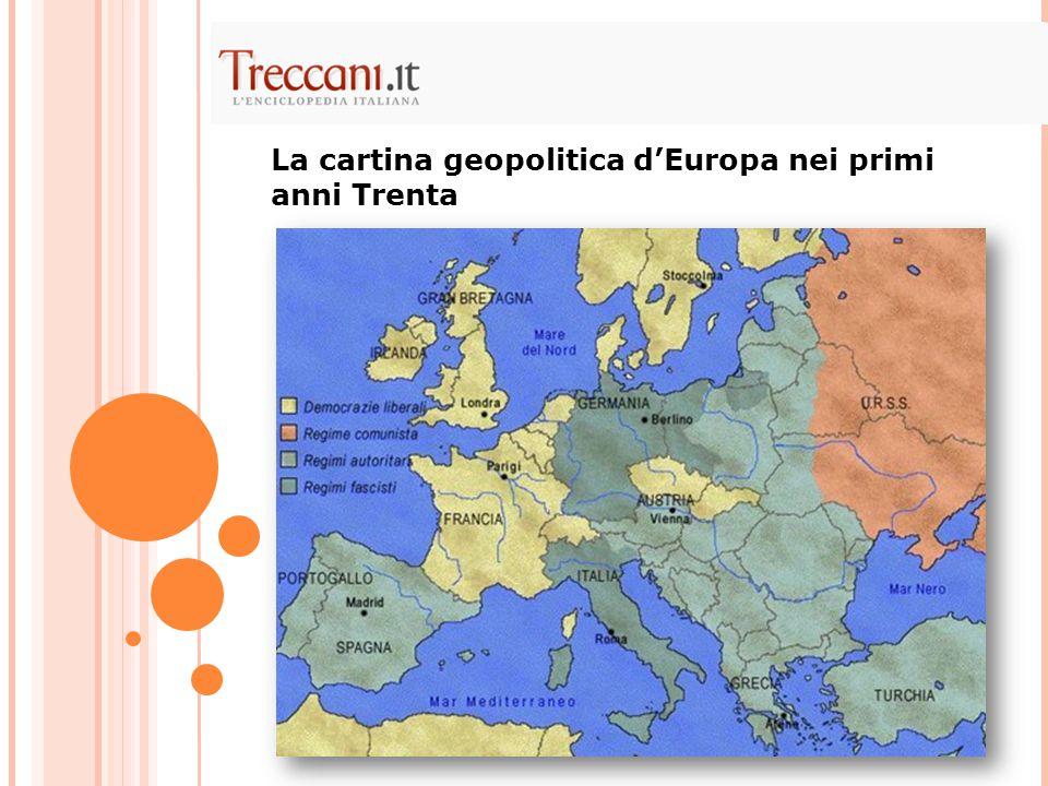 La cartina geopolitica d'Europa nei primi anni Trenta