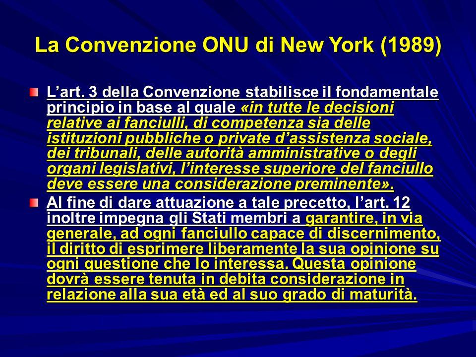 La Convenzione ONU di New York (1989)