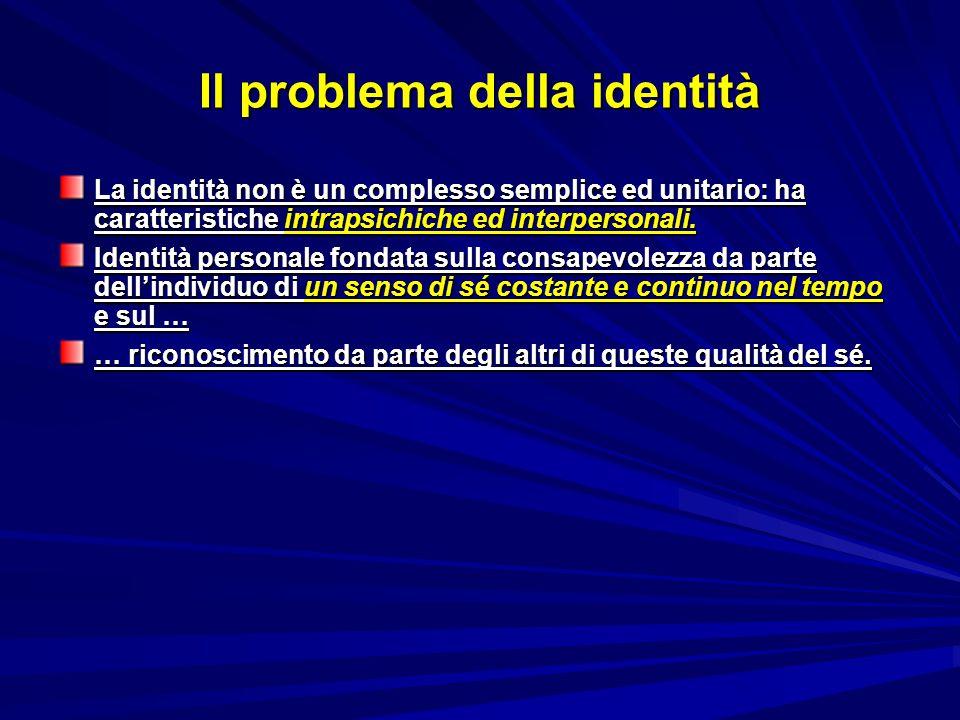 Il problema della identità