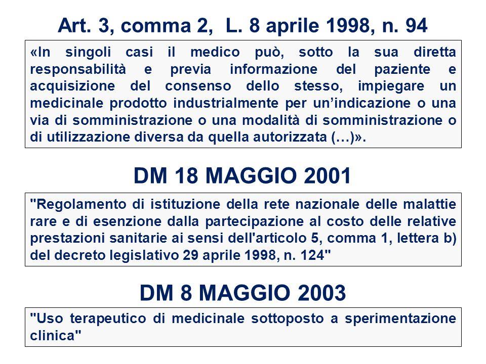 Art. 3, comma 2, L. 8 aprile 1998, n. 94