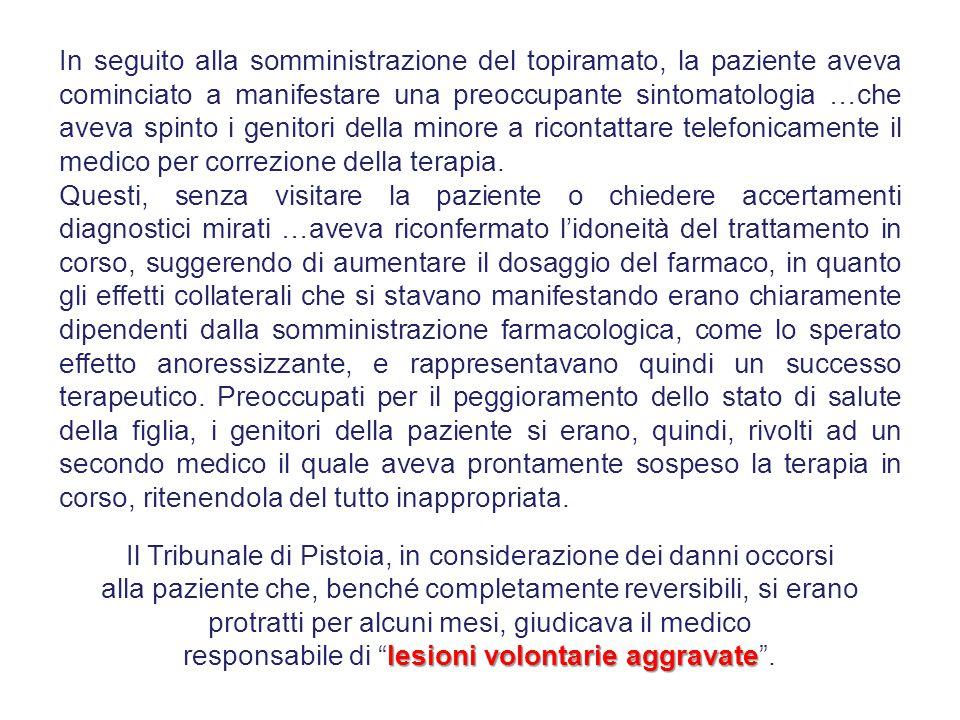 Il Tribunale di Pistoia, in considerazione dei danni occorsi