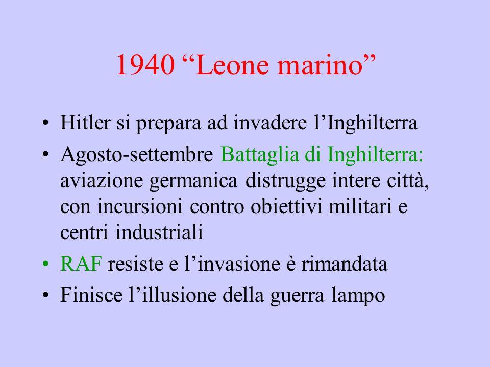 1940 Leone marino Hitler si prepara ad invadere l'Inghilterra