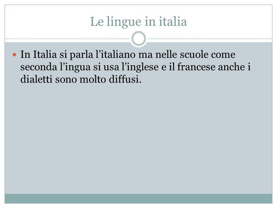 Le lingue in italia