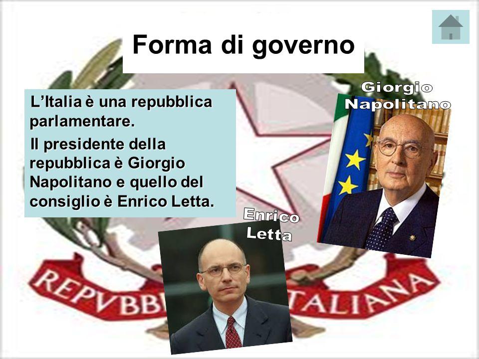 Forma di governo L'Italia è una repubblica parlamentare.