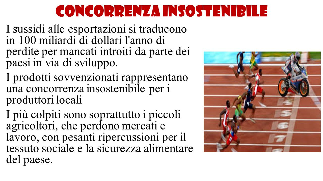 Concorrenza insostenibile