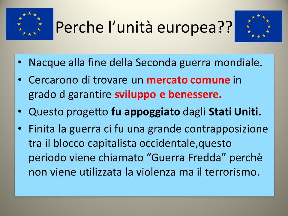Perche l'unità europea