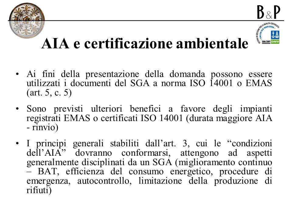 AIA e certificazione ambientale