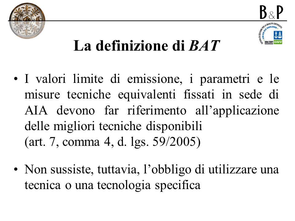 La definizione di BAT