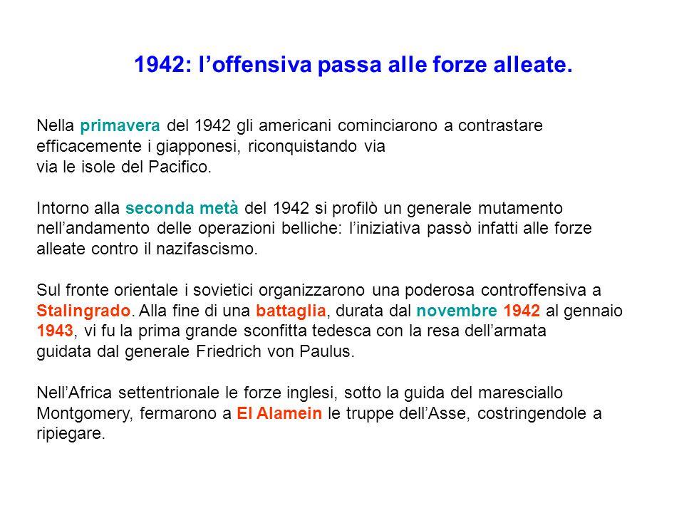 1942: l'offensiva passa alle forze alleate.