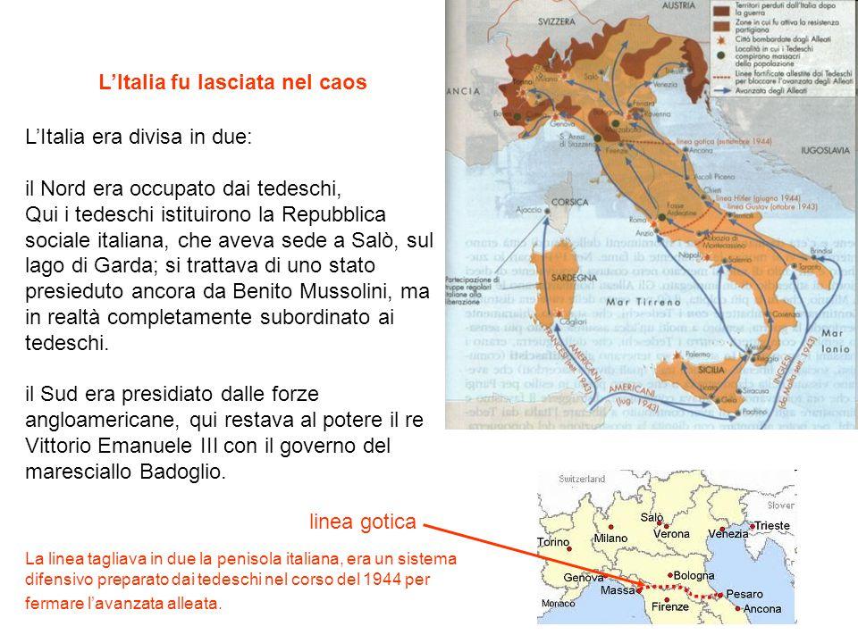 L'Italia fu lasciata nel caos