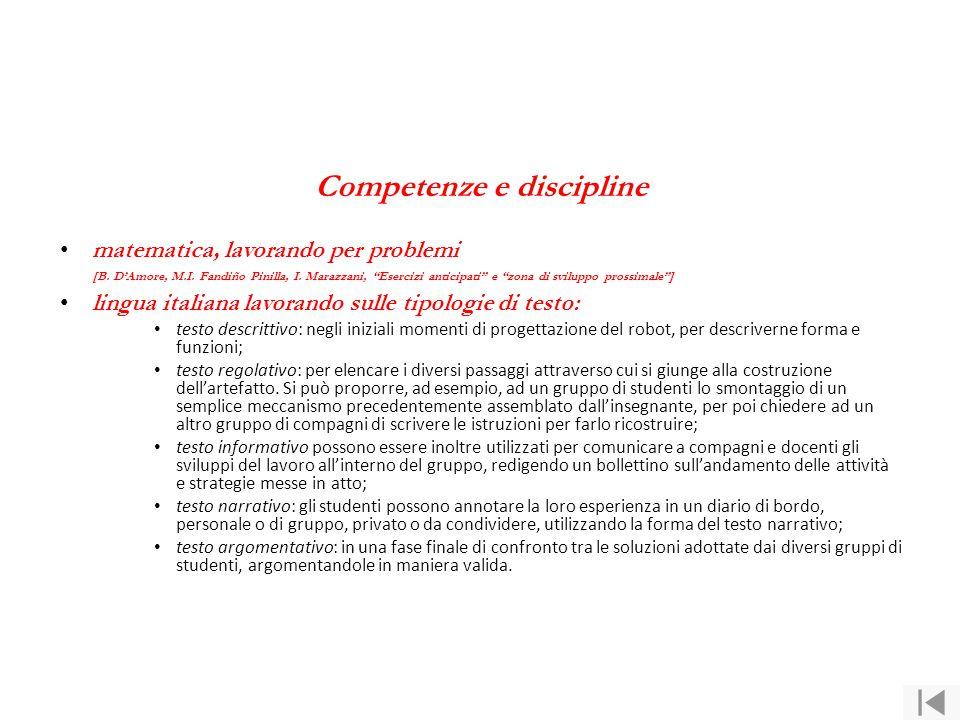 Competenze e discipline