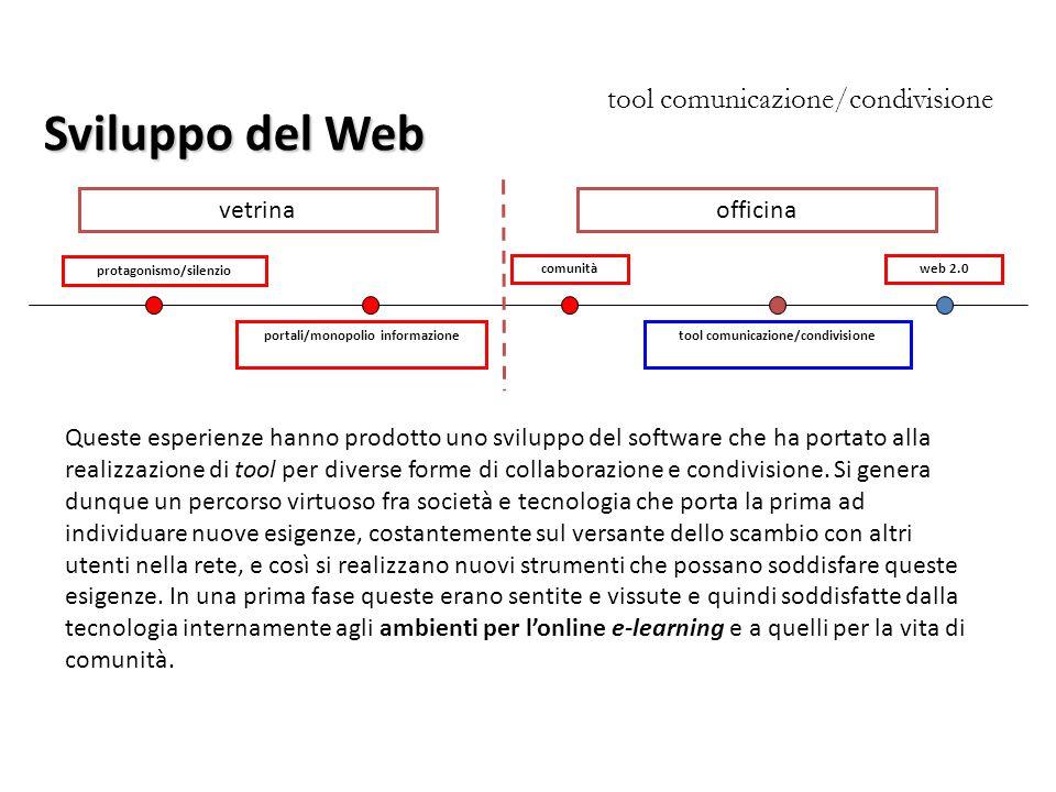 Sviluppo del Web tool comunicazione/condivisione vetrina officina