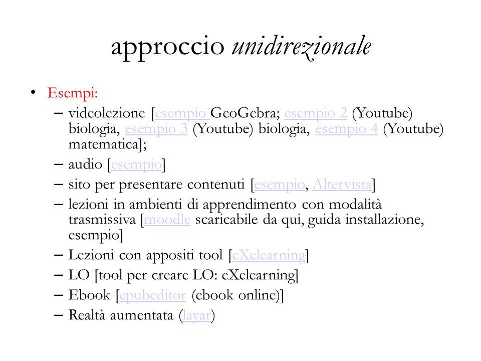 approccio unidirezionale
