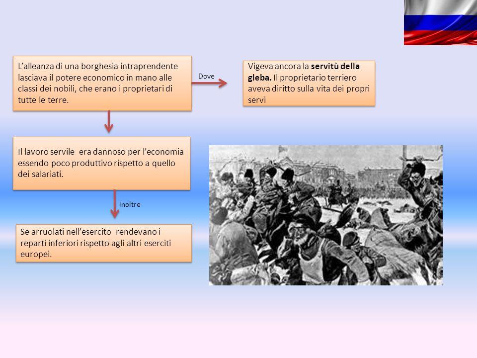 L'alleanza di una borghesia intraprendente lasciava il potere economico in mano alle classi dei nobili, che erano i proprietari di tutte le terre.