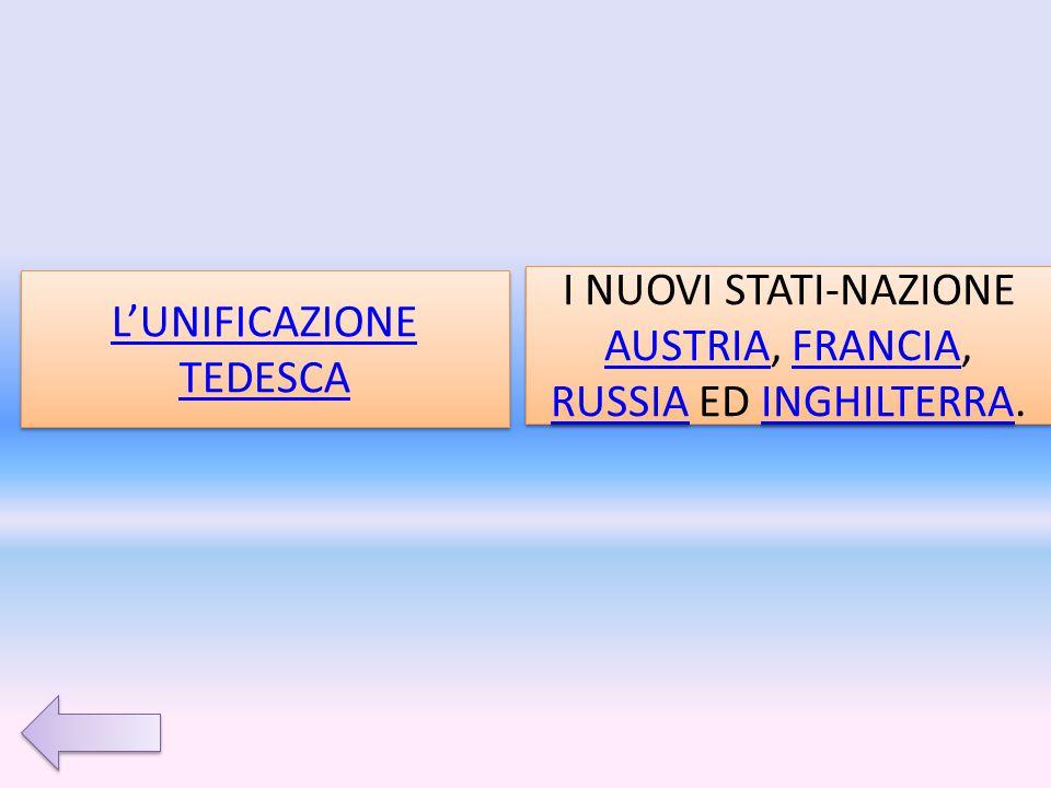 L'UNIFICAZIONE TEDESCA