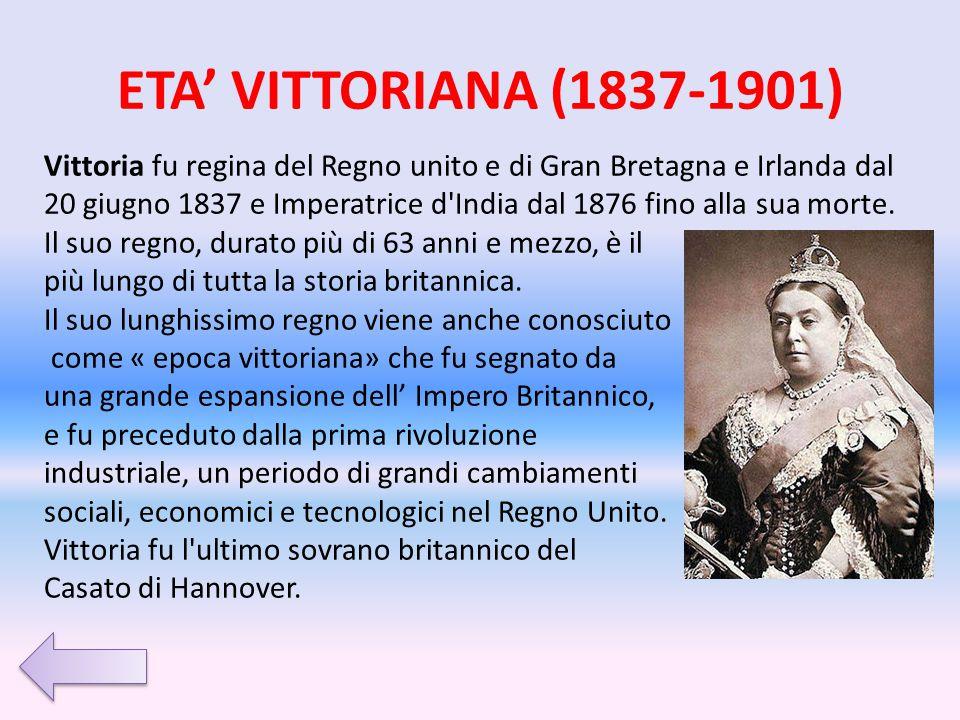 ETA' VITTORIANA (1837-1901)