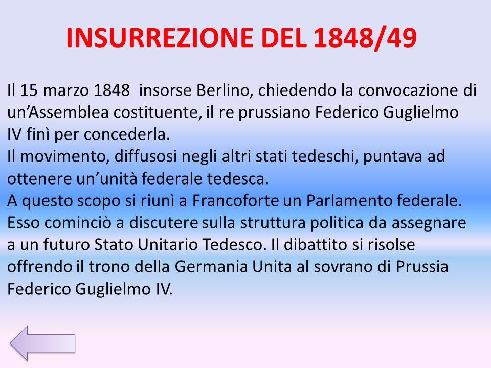 INSURREZIONE DEL 1848/49